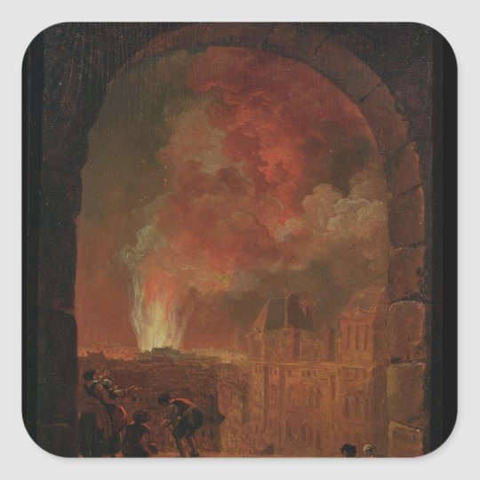 Fire at the Opera of the Palais-Royal Square Sticker