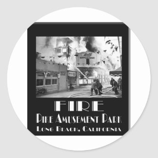 Fire At The Pike Classic Round Sticker