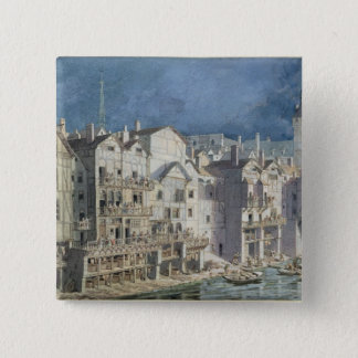 Fire at the Pont aux Meuniers in 1621 Pinback Button