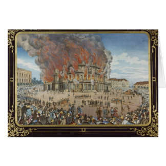 Fire at the Royal Theatre in Dresden Card