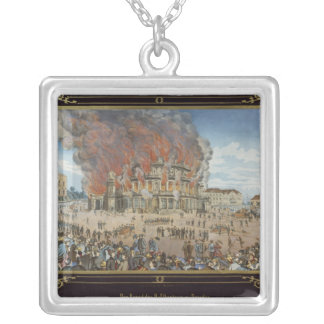 Fire at the Royal Theatre in Dresden Silver Plated Necklace