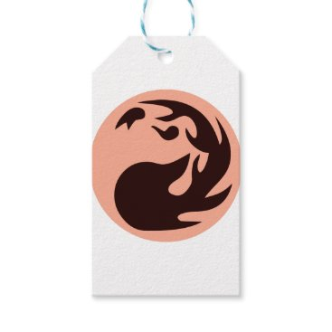 gridly Fire Ball Circle Gift Tags