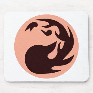Fire Ball Circle Mouse Pad