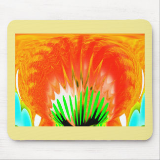 Fire ball mouse pad