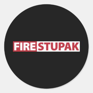 Fire Bart Stupak Classic Round Sticker