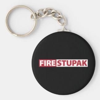Fire Bart Stupak Keychain