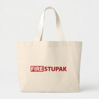 Fire Bart Stupak Large Tote Bag