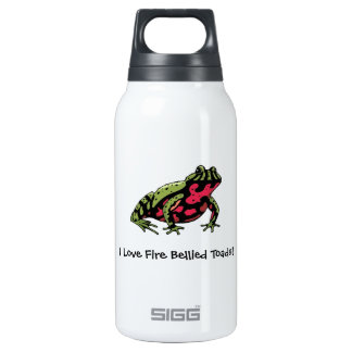Fire Bellied Toad Love (customizable) Insulated Water Bottle