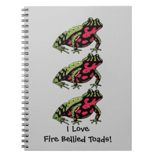 Fire Bellied Toad Love customizable Journal
