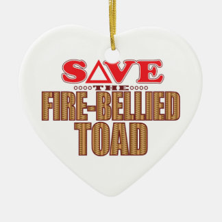 Fire-Bellied Toad Save Ceramic Ornament