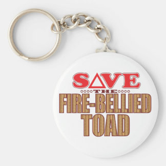Fire-Bellied Toad Save Keychain