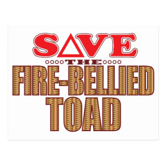 Fire-Bellied Toad Save Postcard