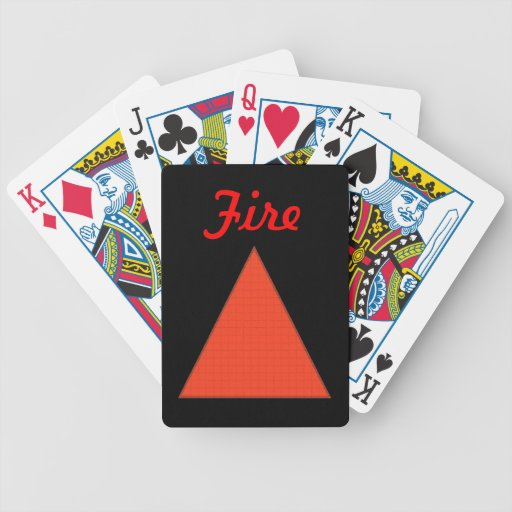 Fire Bicycle Playing Cards