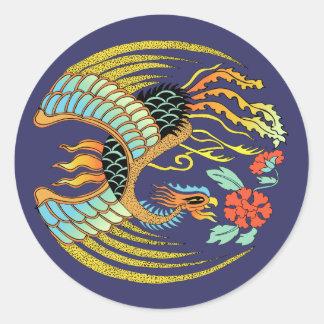 Fire Bird Classic Round Sticker