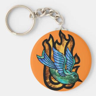 Fire Bird Keychain