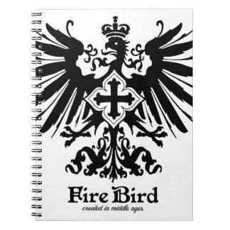 Fire bird vintage classical graphic spiral notebook
