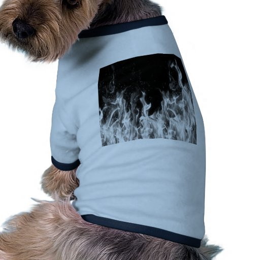 Fire (black and white) dog t shirt