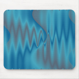 fire blue turquosie mouse pad