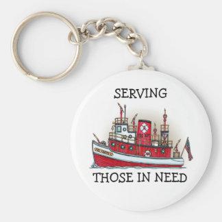 Fire Boat Keychain STIN
