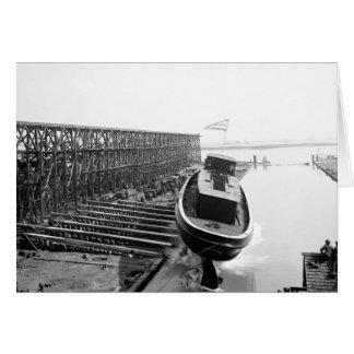 Fire Boat Launch: 1901 Card