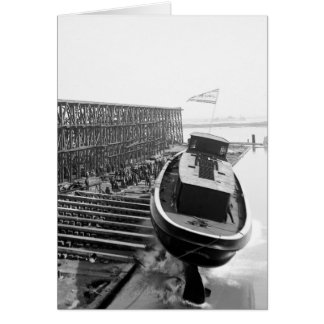 Fire Boat Launch: 1901 Greeting Card