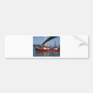 Fire Boat One - San Francisco Car Bumper Sticker