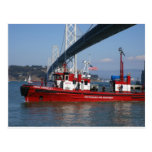 Fire Boat One - San Francisco Postcard