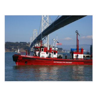 Fire Boat One - San Francisco Postcard