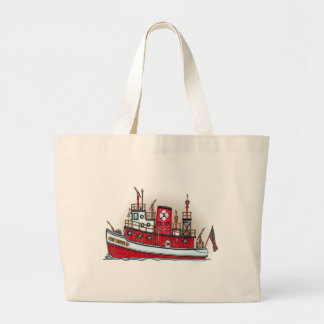 Fire Boat Tote Bag