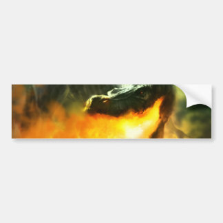 Fire-Breathing Dinosaur or Dragon by Michael Maher Bumper Sticker