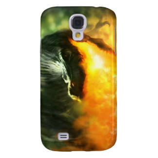 Fire-Breathing Dinosaur or Dragon by Michael Maher Samsung Galaxy S4 Cases