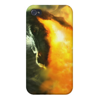 Fire-Breathing Dinosaur or Dragon by Michael Maher iPhone 4 Case