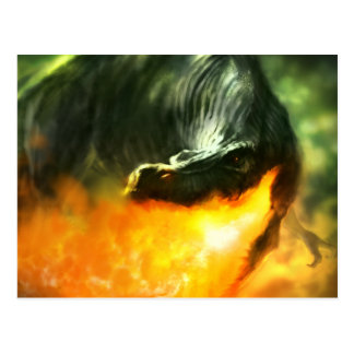 Fire-Breathing Dinosaur or Dragon by Michael Maher Postcard