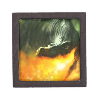 Fire-Breathing Dinosaur or Dragon by Michael Maher Premium Gift Boxes