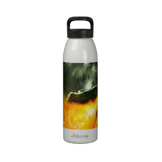 Fire-Breathing Dinosaur or Dragon by Michael Maher Reusable Water Bottles