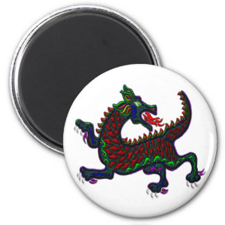 Fire Breathing Dragon 2 Inch Round Magnet