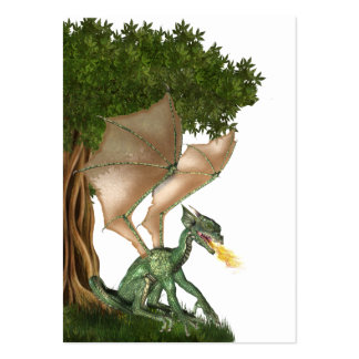 Fire breathing dragon ACEO Large Business Card