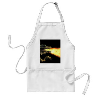 Fire breathing dragon adult apron