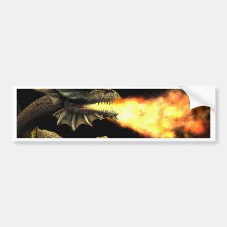 Fire breathing dragon bumper sticker