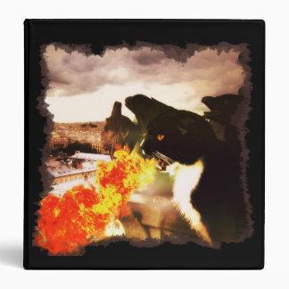 Fire Breathing Dragon Cat binder