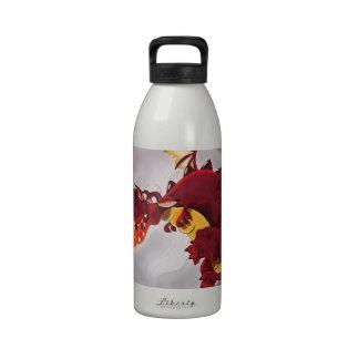 Fire Breathing Dragon Illustration Drinking Bottle