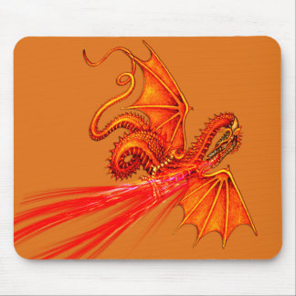 Fire breathing dragon mousepad