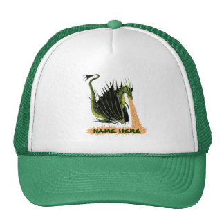 Fire Breathing Dragon (Name on Fire) Trucker Hat