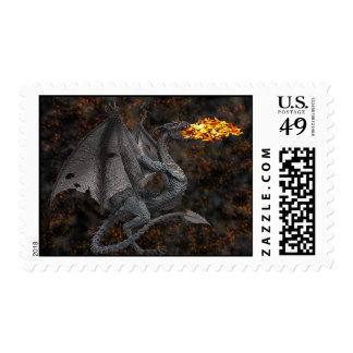 Fire-Breathing Dragon Postage Stamps