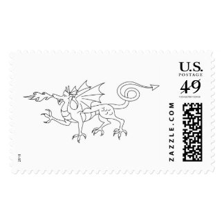 Fire Breathing Dragon Postage