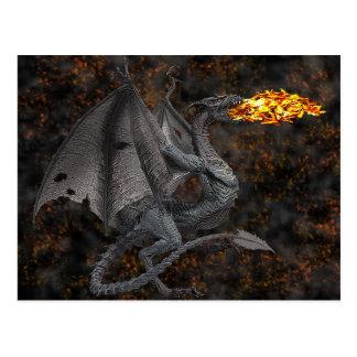 Fire-Breathing Dragon Postcard