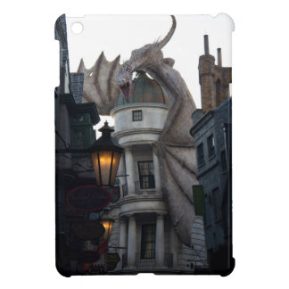 Fire breathing Dragon protecting wizard's bank iPad Mini Covers