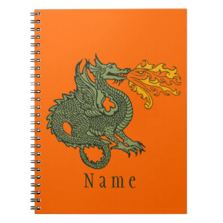 Fire Breathing Dragon Spiral Notebook