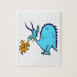 Fire Breathing Dragon Teal.png Jigsaw Puzzle