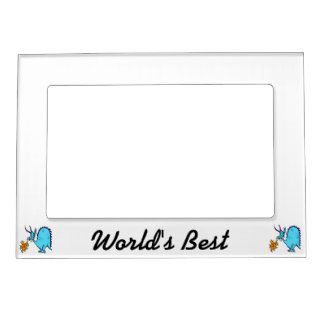 Fire Breathing Dragon Teal.png Magnetic Photo Frame